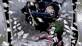Batman crashes in on The Joker