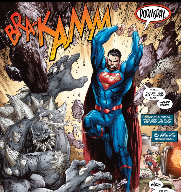 Action 960 Superman smashes Doomsday