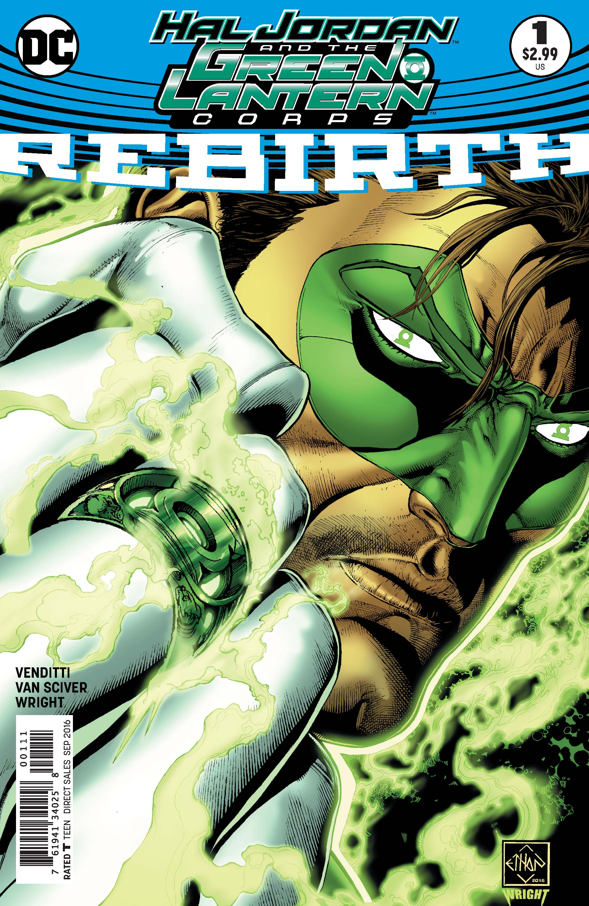 Images from 'Hal Jordan and the Green Lantern Corp: Rebirth #1'