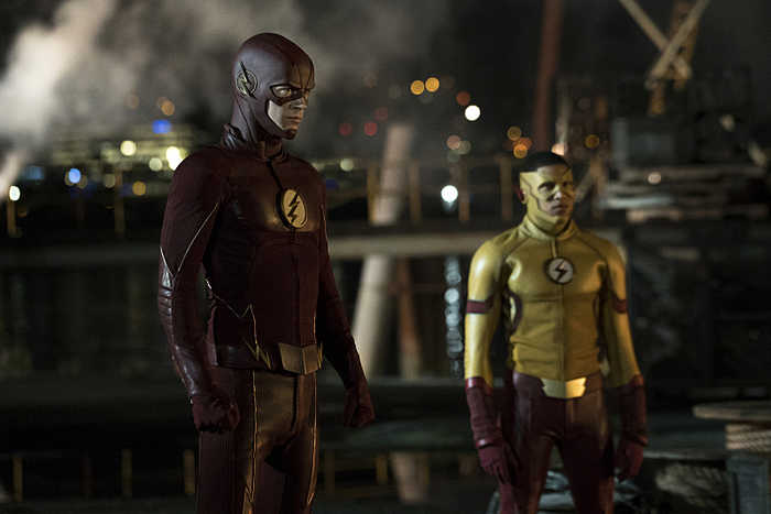 "The Flash -- ""Flashpoint"" -- Image: FLA301a_107r.jpg -- Pictured (L-R): Grant Gustin as The Flash and Keiynan Lonsdale as Kid Flash -- Photo: Katie Yu/The CW -- © 2016 The CW Network, LLC. All rights reserved."
