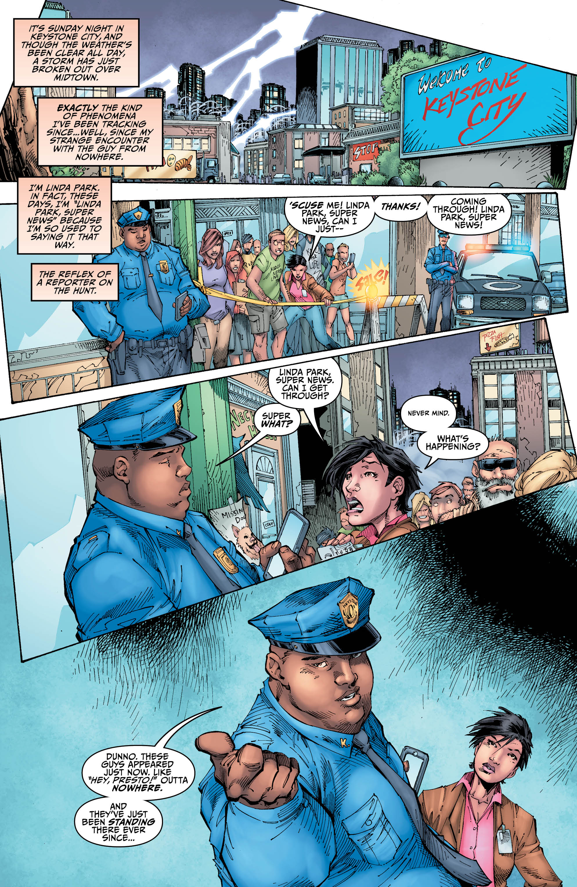 Images from Titans #2. Courtesy of DC Comics.