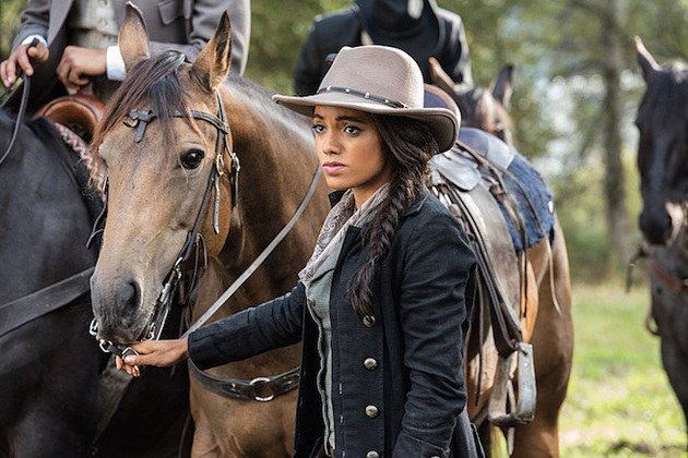"DC's Legends of Tomorrow --""Outlaw Country""-- Image LGN206a_0310.jpg -- Pictured: Maisie Richardson- Sellers as Amaya Jiwe/Vixen -- Photo: Dean Buscher/The CW -- © 2016 The CW Network, LLC. All Rights Reserved."