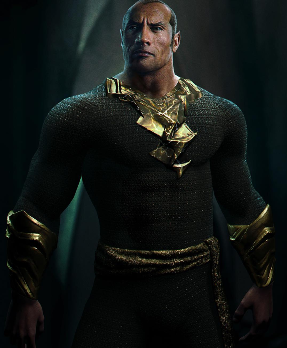 The Rock As Black Adam, digital art by Australian Talent George Evangelista