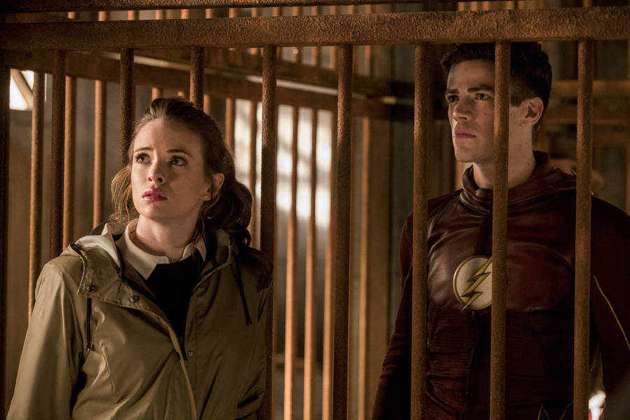 "The Flash -- ""Attack on Gorilla City"" -- FLA313e_0401b.jpg -- Pictured (L-R): Danielle Panabaker as Caitlin Snow and Grant Gustin as Barry Allen -- Photo: Jack Rowand/The CW -- © 2017 The CW Network, LLC. All rights reserved."