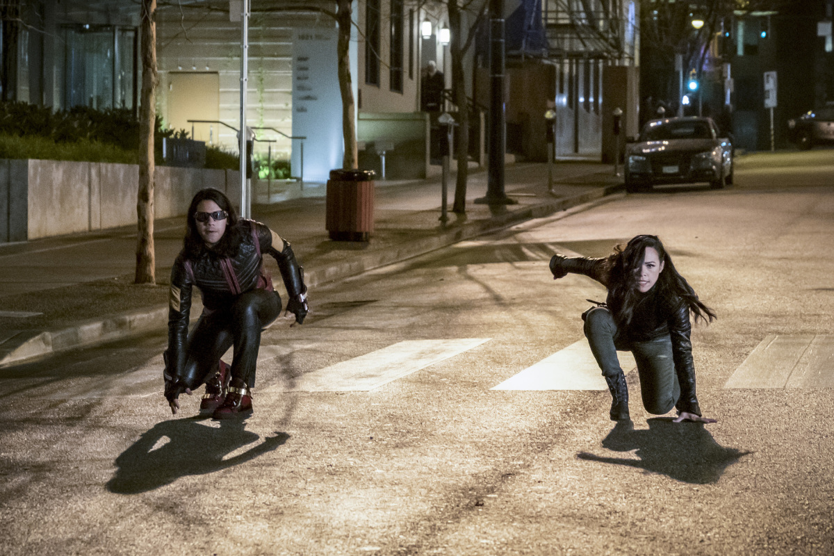 "The Flash -- ""Attack on Central City"" -- FLA314a_0203b.jpg -- Pictured (L-R):  Carlos Valdes as Cisco Ramon and Jessica Camacho as Gypsy -- Photo: Katie Yu/The CW -- © 2017 The CW Network, LLC. All rights reserved."