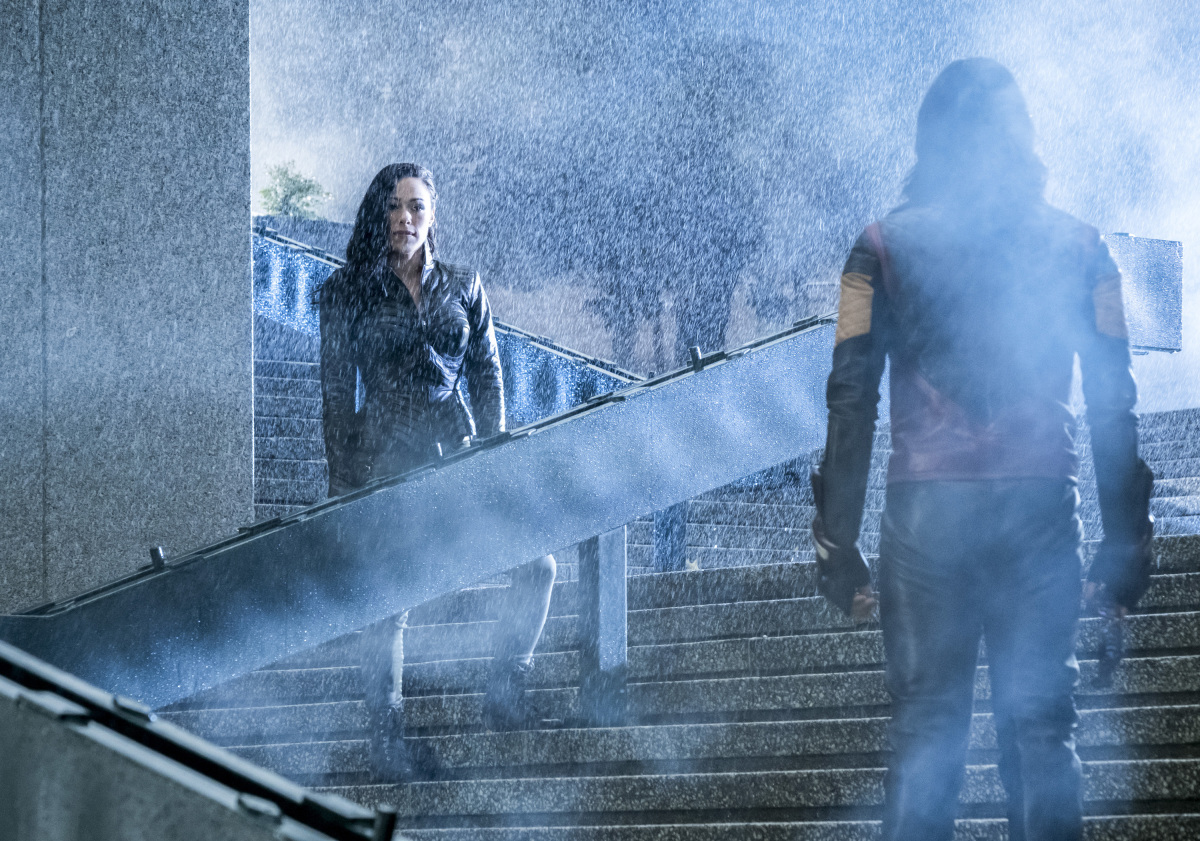 "The Flash -- ""Attack on Central City"" -- FLA314a_0007b.jpg -- Pictured (L-R): Jessica Camacho as Gypsy and Carlos Valdes as Cisco Ramon -- Photo: Katie Yu/The CW -- © 2017 The CW Network, LLC. All rights reserved."