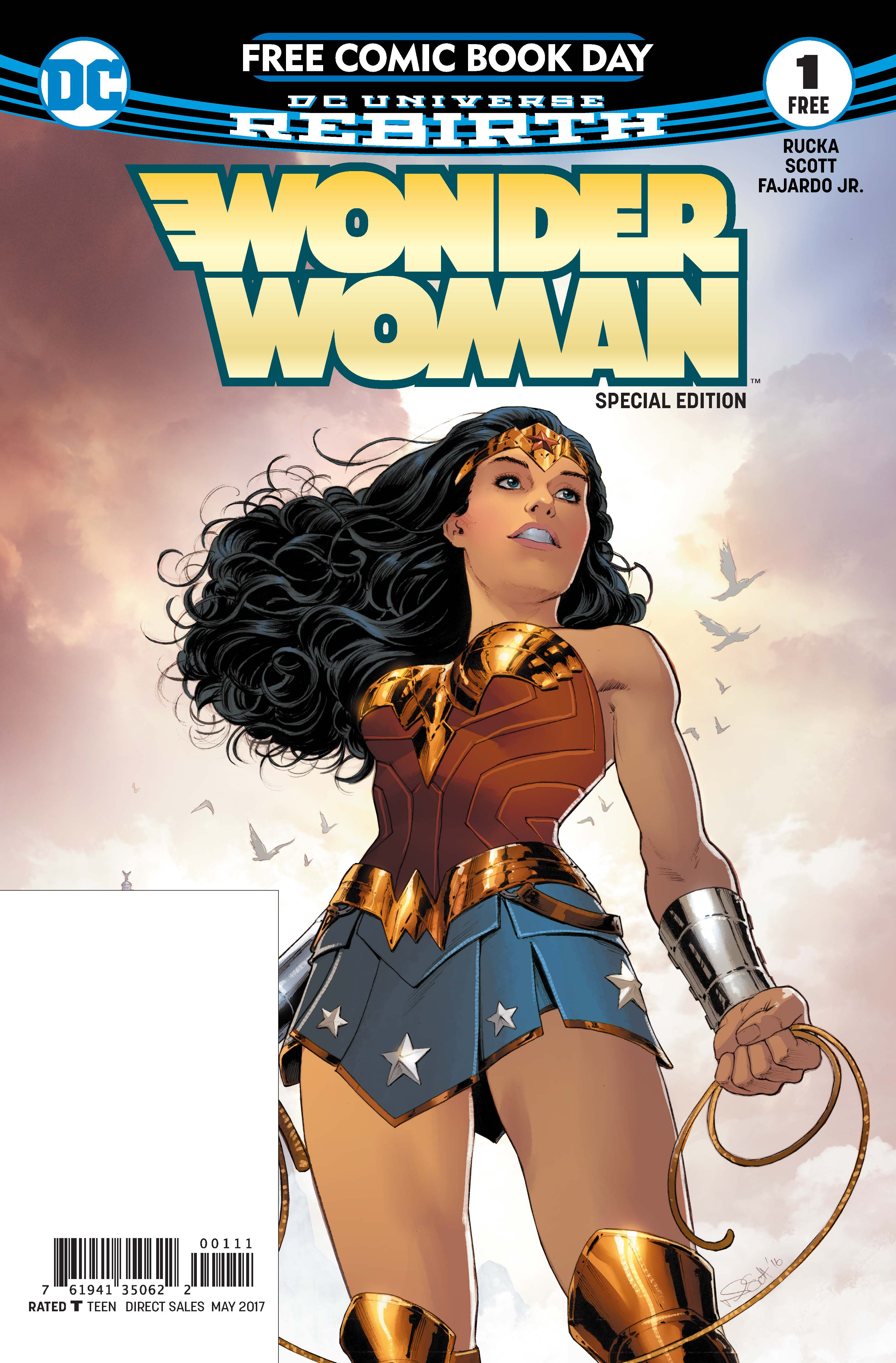 WONDER WOMAN FCBD SPECIAL EDITION #1 (written by New York Times Best Selling writer Greg Rucka and illustrated by Nicola Scott)