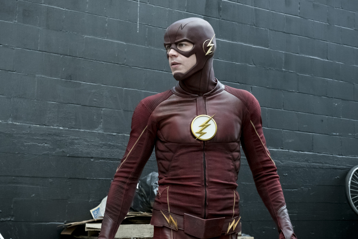 "The Flash -- ""The Once and Future Flash"" -- FLA319a_0096b.jpg -- Pictured: Grant Gustin as The Flash -- Photo: Katie Yu/The CW -- © 2017 The CW Network, LLC. All rights reserved."