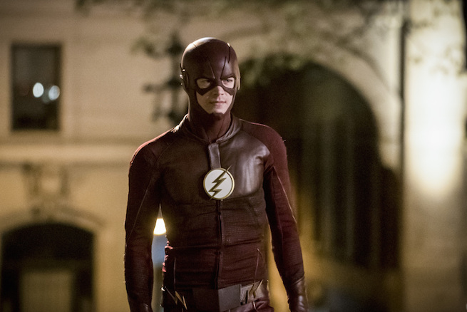 "The Flash -- ""Infantino Street"" -- FLA322c_0005b.jpg -- Pictured: Grant Gustin as Barry Allen -- Photo: Katie Yu/The CW -- © 2017 The CW Network, LLC. All rights reserved."