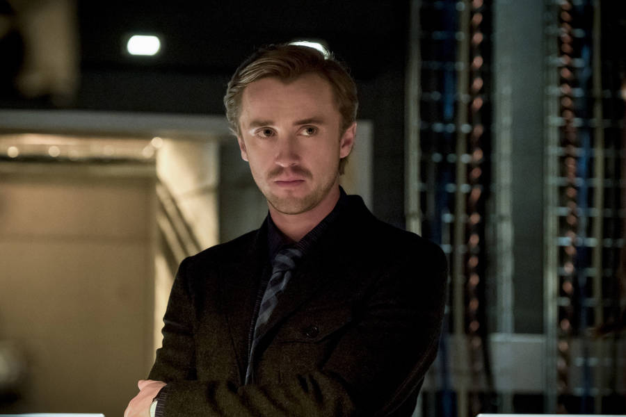 "The Flash -- ""Finish Line"" -- FLA323b_0205b.jpg -- Pictured: Tom Felton as Julian Albert -- Photo: Katie Yu /The CW -- © 2017 The CW Network, LLC. All rights reserved."