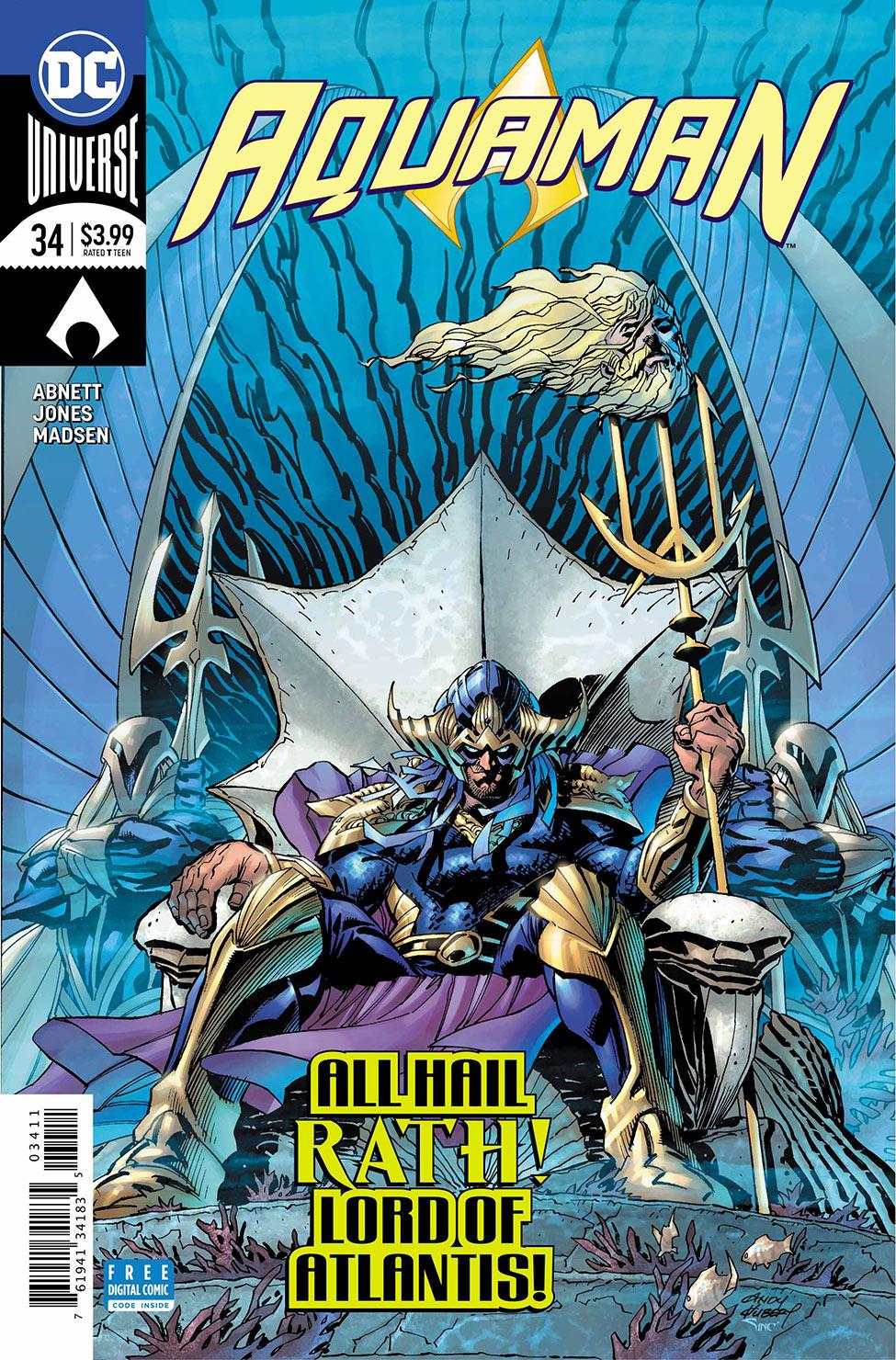 Aquaman Cover 34- DC Comics News