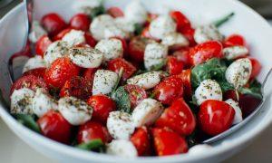 Roasted Mediterranean Veg with Tomato Pesto