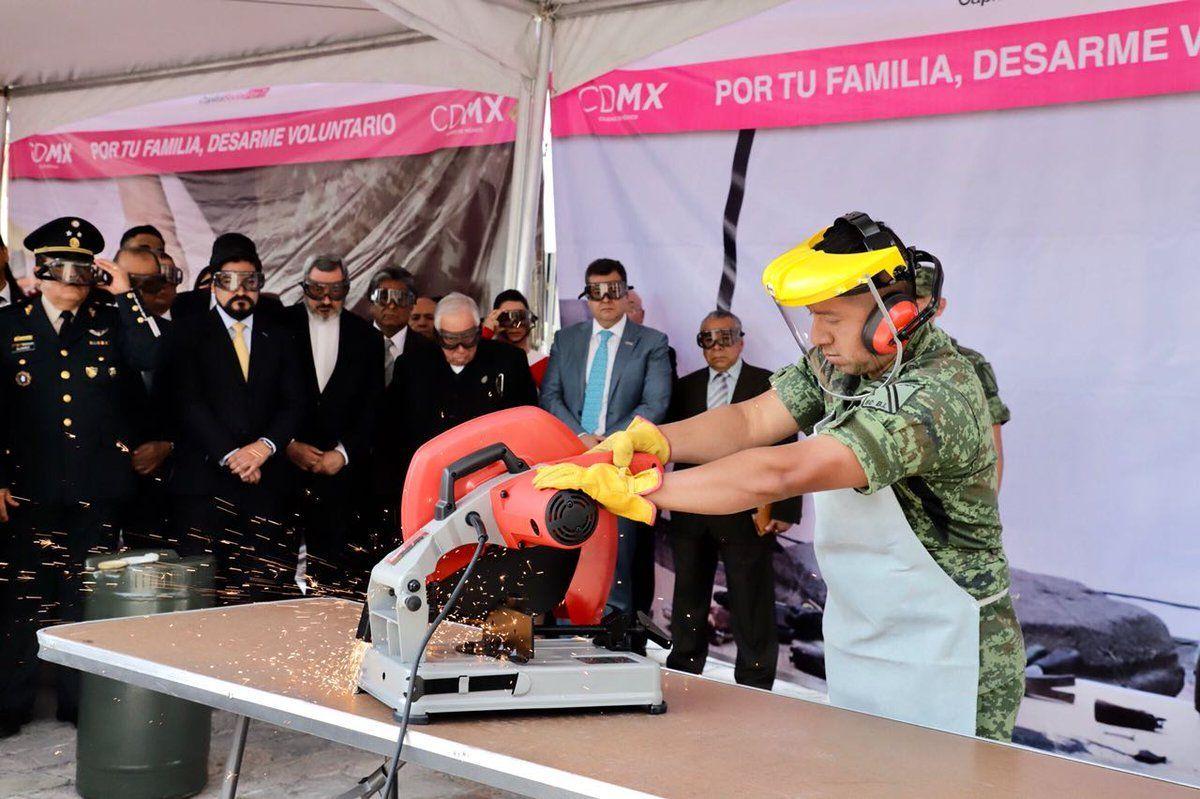 CDMX reanuda programa de desarme voluntario - Diario Basta!