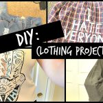 DIY Clothing Projects | Distressing, Jac Vanek Flannel, etc.
