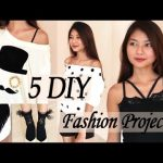 New! 5 DIY Fashion Projects from Old Clothes, Etc   Venezia Lowis   Transform T-Shirts & Shorts