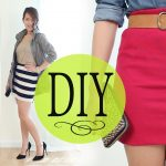 DIY Fashion: Bodycon Tube Skirt w/ Basic Tee (Sew & No Sew)