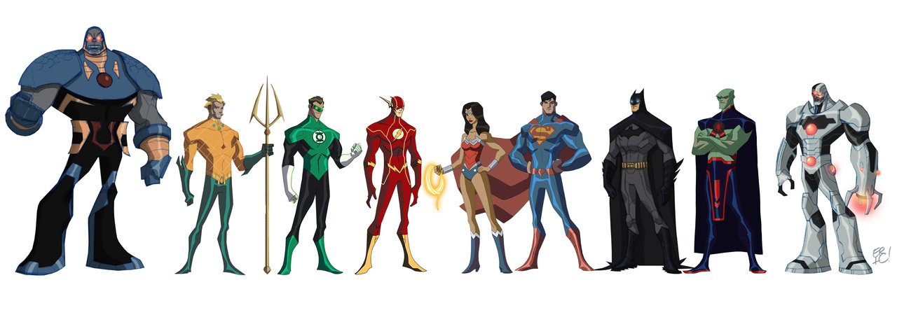 Cartoon Characters Justice League : Eric guzman designs justice league characters
