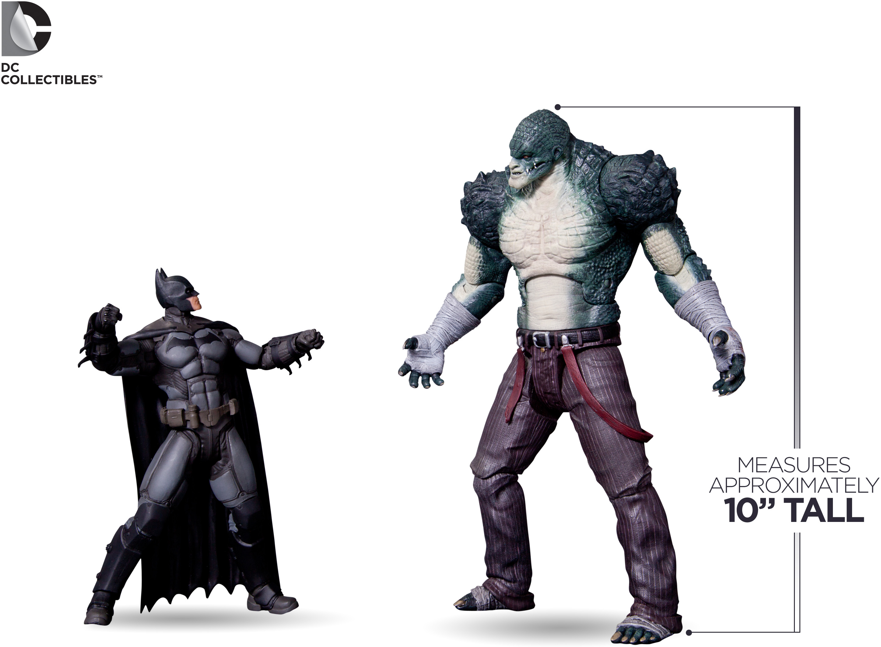 """Standing 4"""" taller than Batman"""