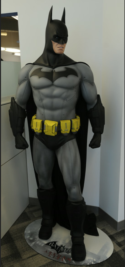 A life size Dark Knight graces the DC Offices
