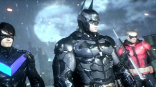 Batman, Nightwing and Robin in Arkham Knight