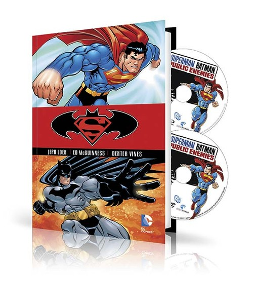 SUPERMAN/BATMAN: PUBLIC ENEMIES HC BOOK AND DVD/BLU-RAY SET