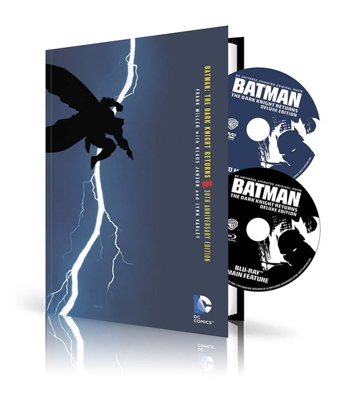 BATMAN: THE DARK KNIGHT RETURNS HC BOOK AND DVD/BLU-RAY SET