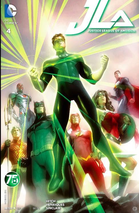 Super sweet variant cover from Alex Garner, saluting Green Lantern's 75th Anniversary
