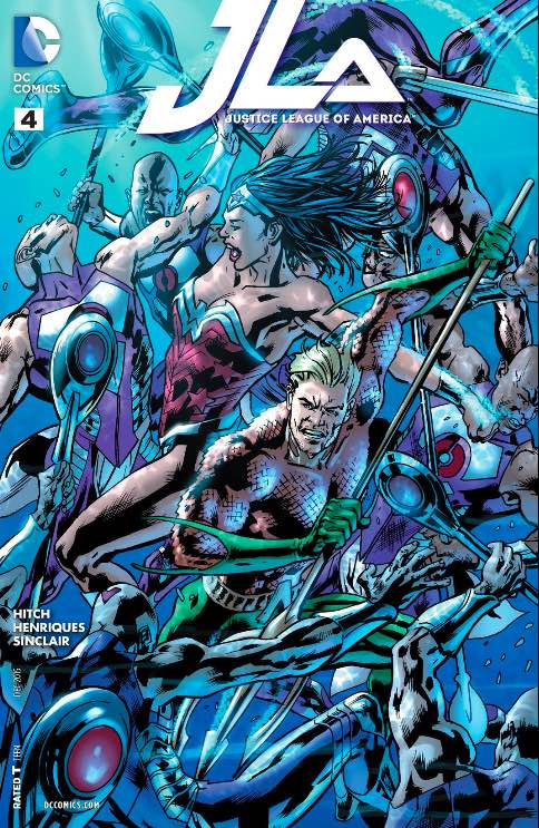 JLA #4 cover from Bryan Hitch and Alex Sinclair