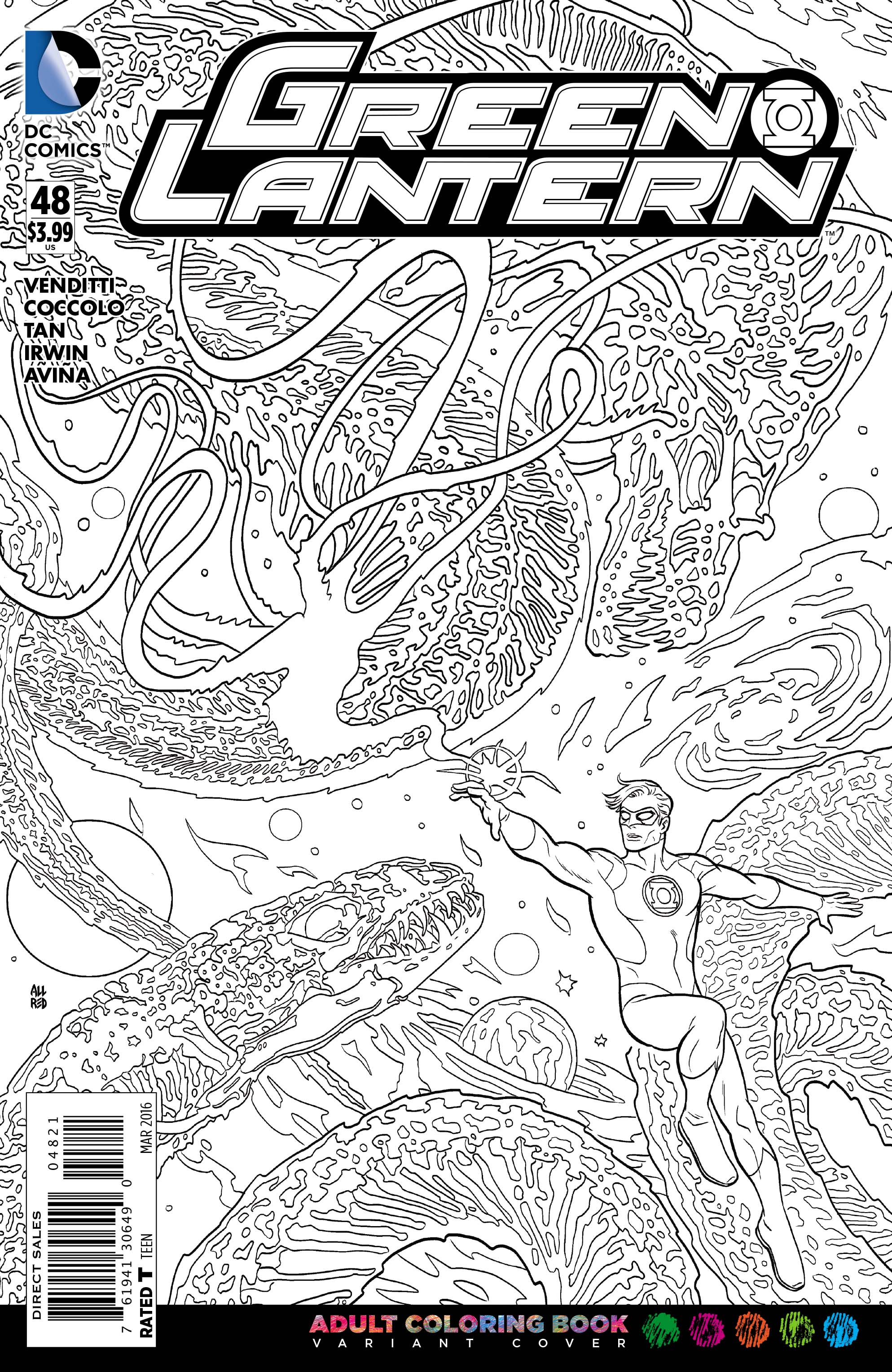 DCs Adult Coloring Book Variant Covers Begin To Arrive In Shops Next Week