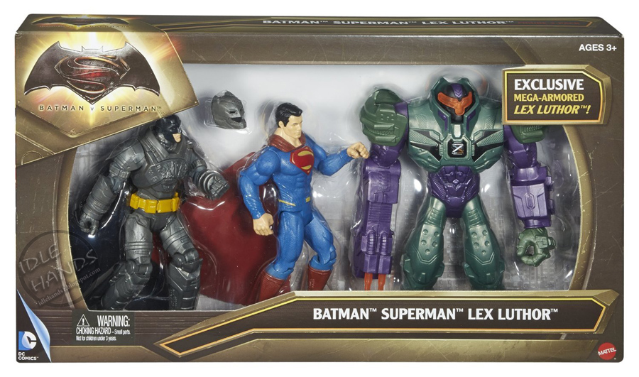 Superman, Batman, and Lex Luthor Box Set
