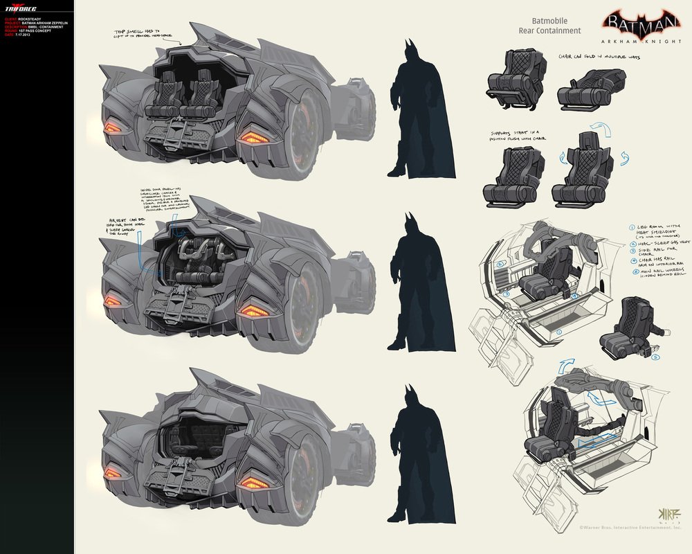 Concept Artist Reveals Evolution Of Batmobile And Red Hood