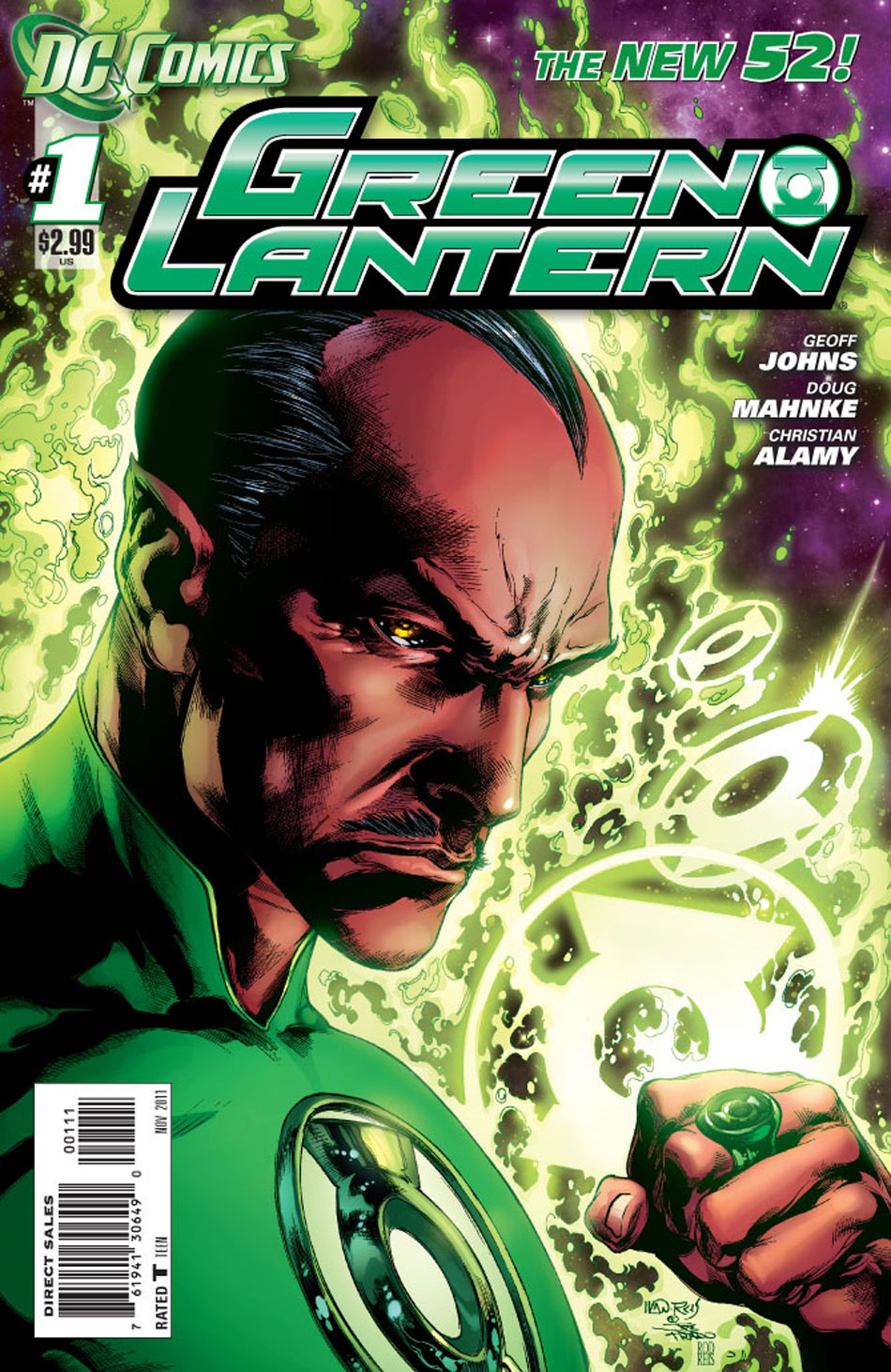 Green Lantern #1 cover by Ivan Reis, Joe Prado and Rod Reis