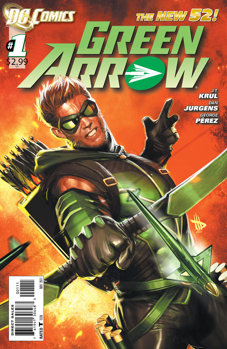 Green Arrow #1 cover by Dave Wilkins