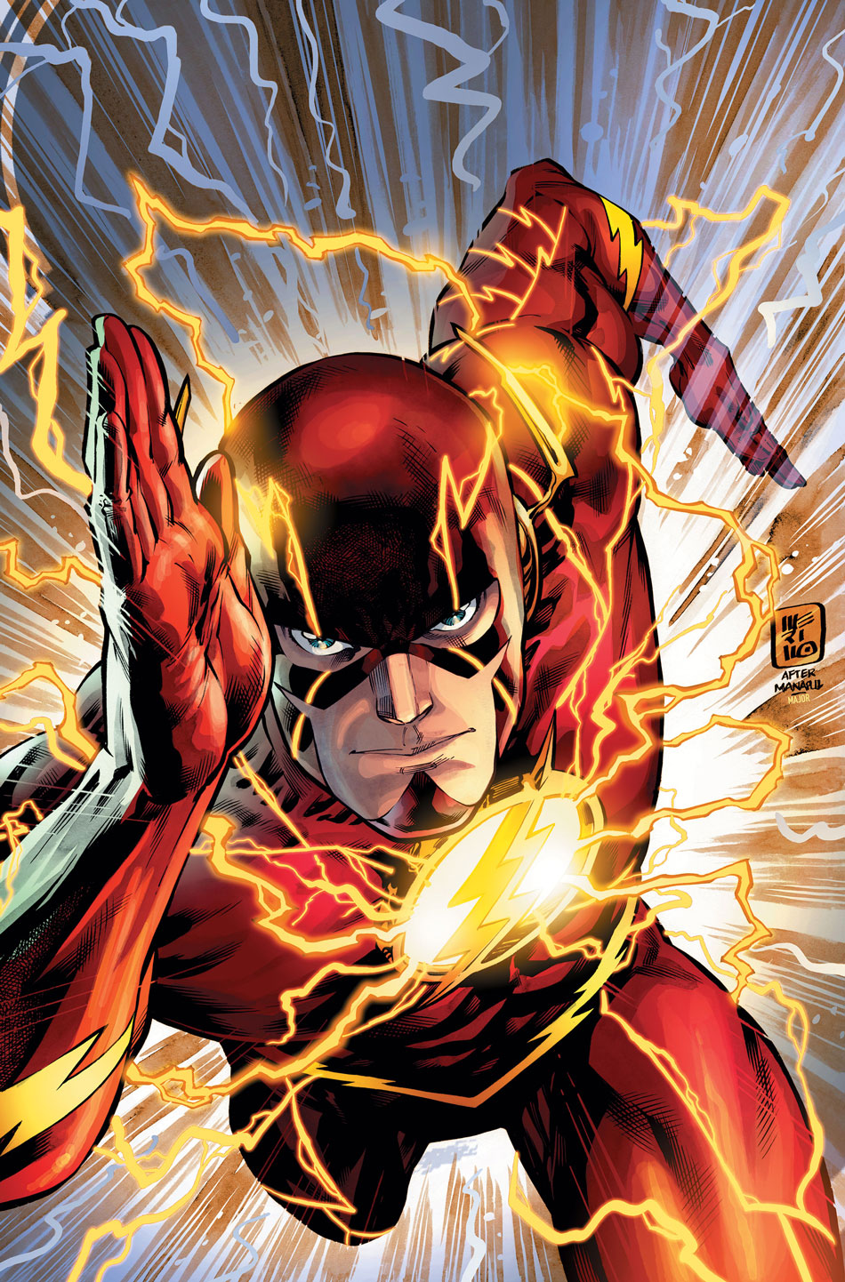 The Flash #52 variant cover by Jesus Merino