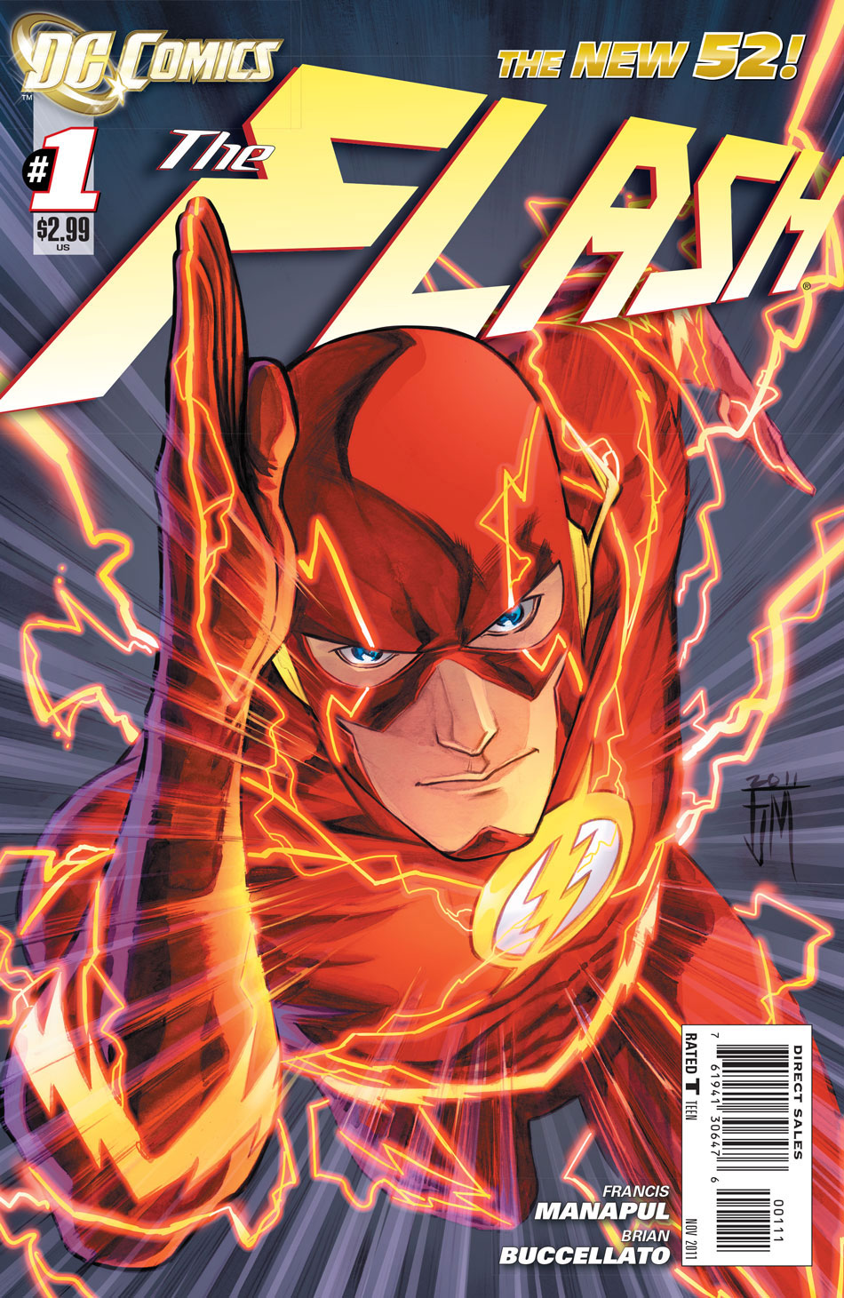 The Flash #1 cover by Francis Manapul and Brian Buccellato