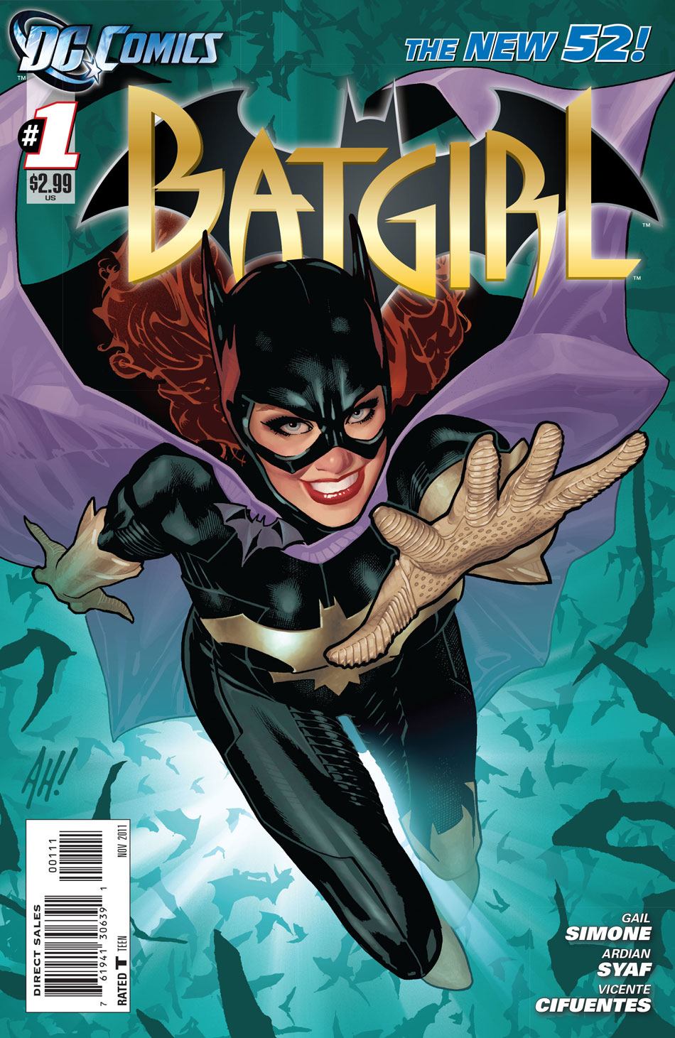 Batgirl #1 cover by Adam Hughes