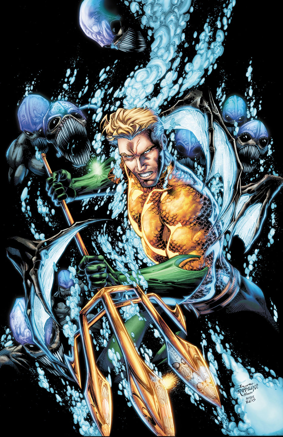 Aquaman #52 variant cover by Brett Booth and Norm Rapmund