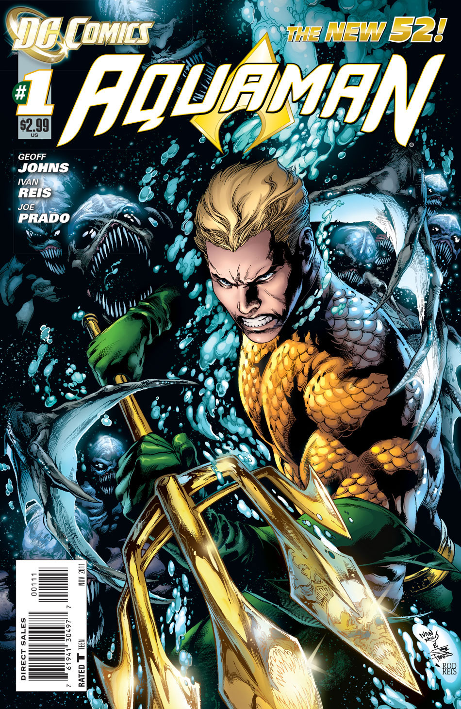Aquaman #1 cover by Ivan Reis, Joe Prado and Rod Reis