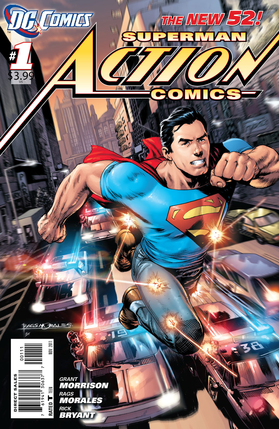 Action Comics #1 cover by Rags Morales and Brad Anderson
