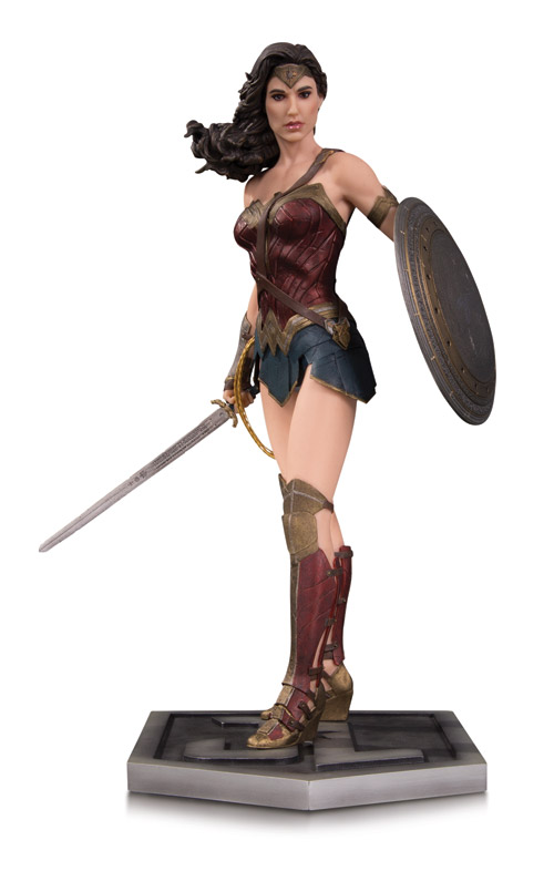 JUSTICE LEAGUE MOVIE WONDER WOMAN STATUE Item Code: APR170460 SRP: $150.00
