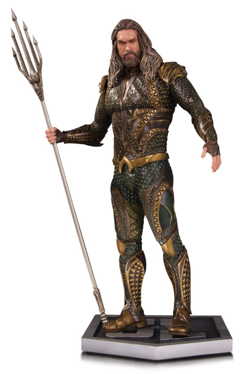 JUSTICE LEAGUE MOVIE AQUAMAN STATUE Item Code: APR170462 SRP: $150.00