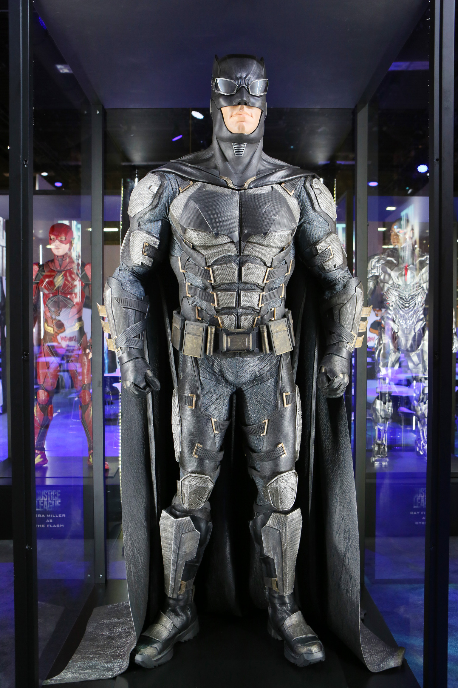 Pictured Justice League costumes of The Flash Batman Cyborg Wonder Woman and Aquaman. & Warner Bros. Consumer Products Brings Licensing Expo 2017 to Life ...