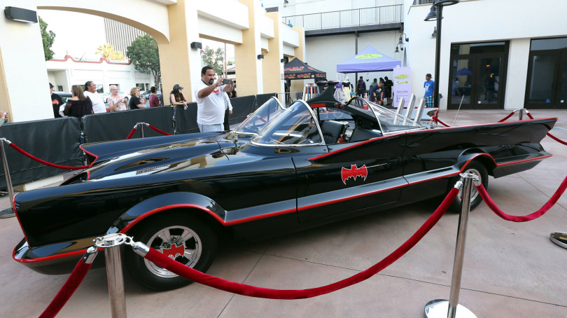 Batmobile on display