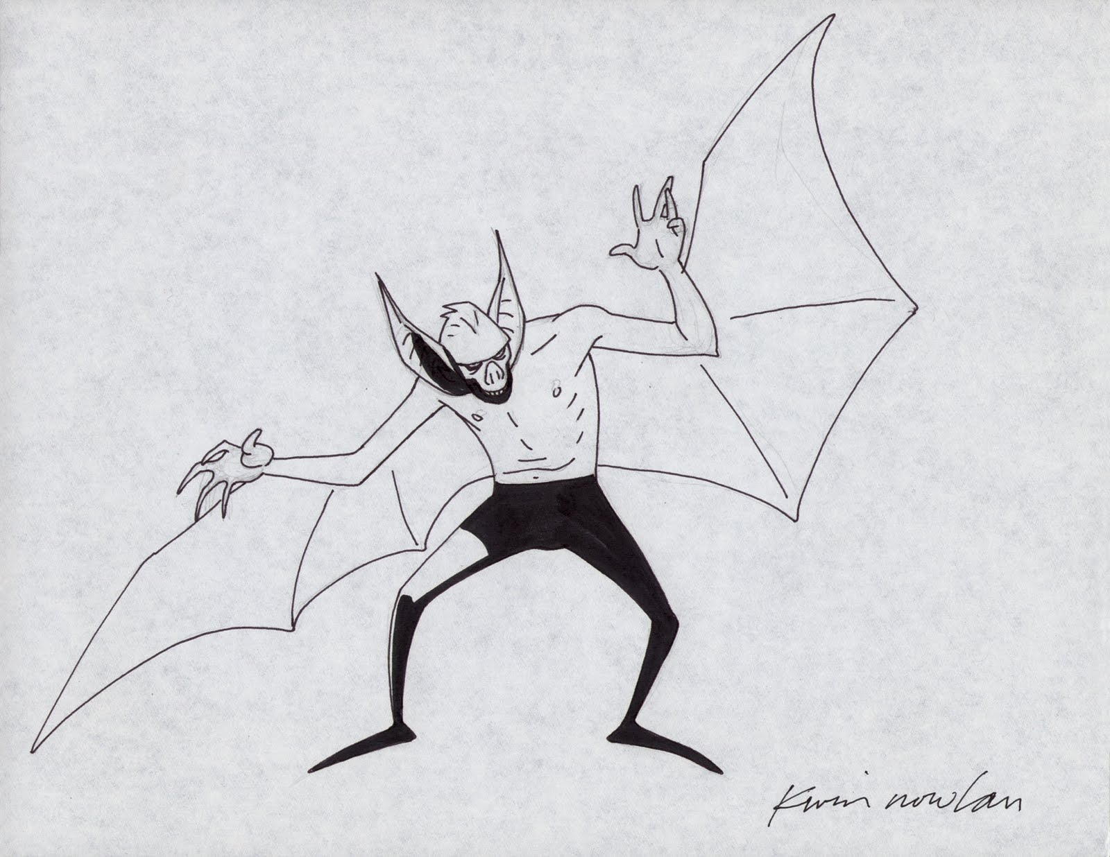 Early Concept for Man-Bat