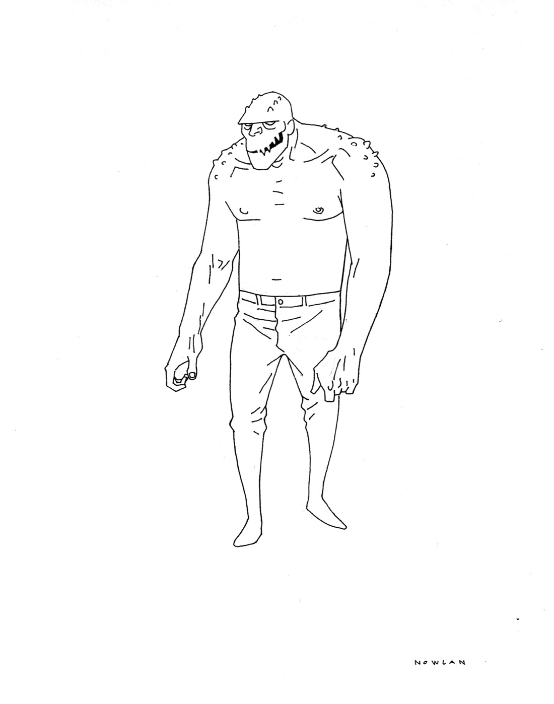 Early Concept for Killer Croc