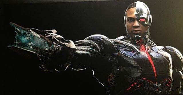 Cyborg concept art from Justice League