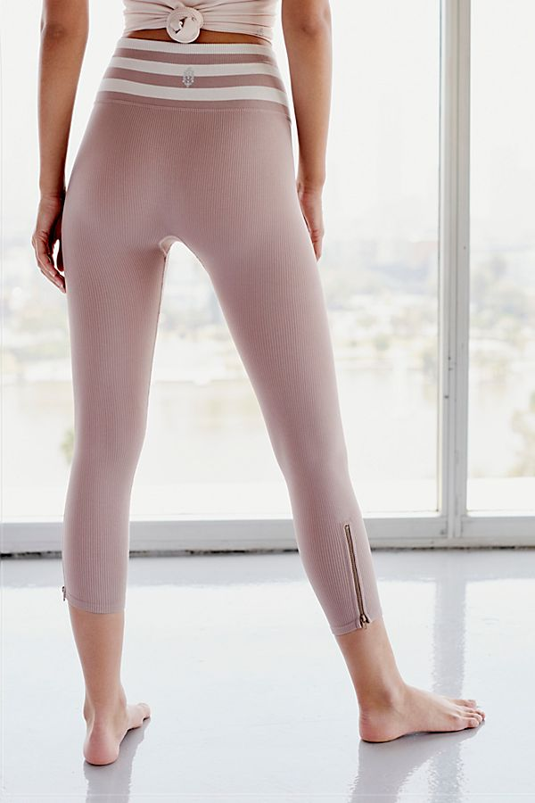 New Free People Fp Movement Mid-Rise 7//8 Length Seamless Triumph Legging $88