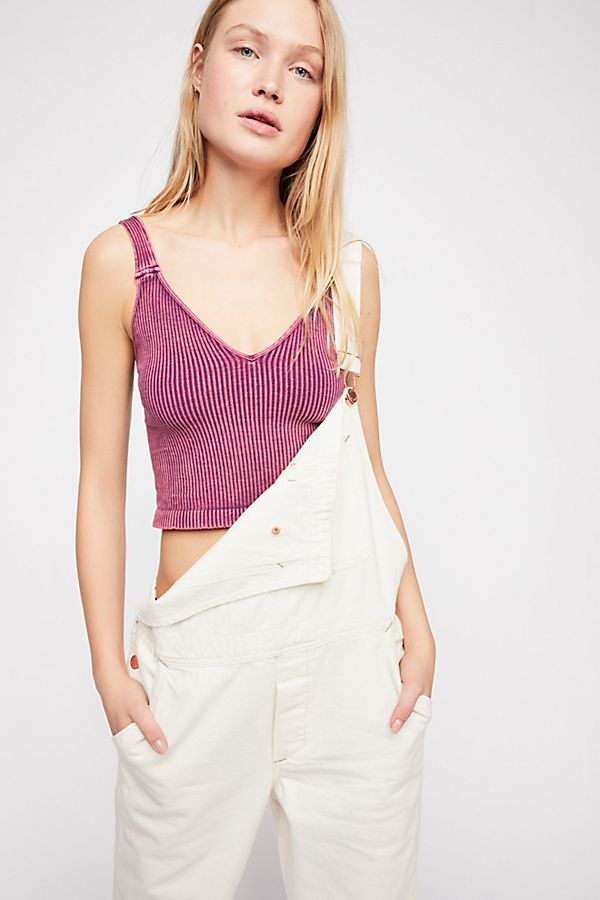 New Free People Intimately Washed Seamless Crop Top Ribbed Cami Multicolors $38