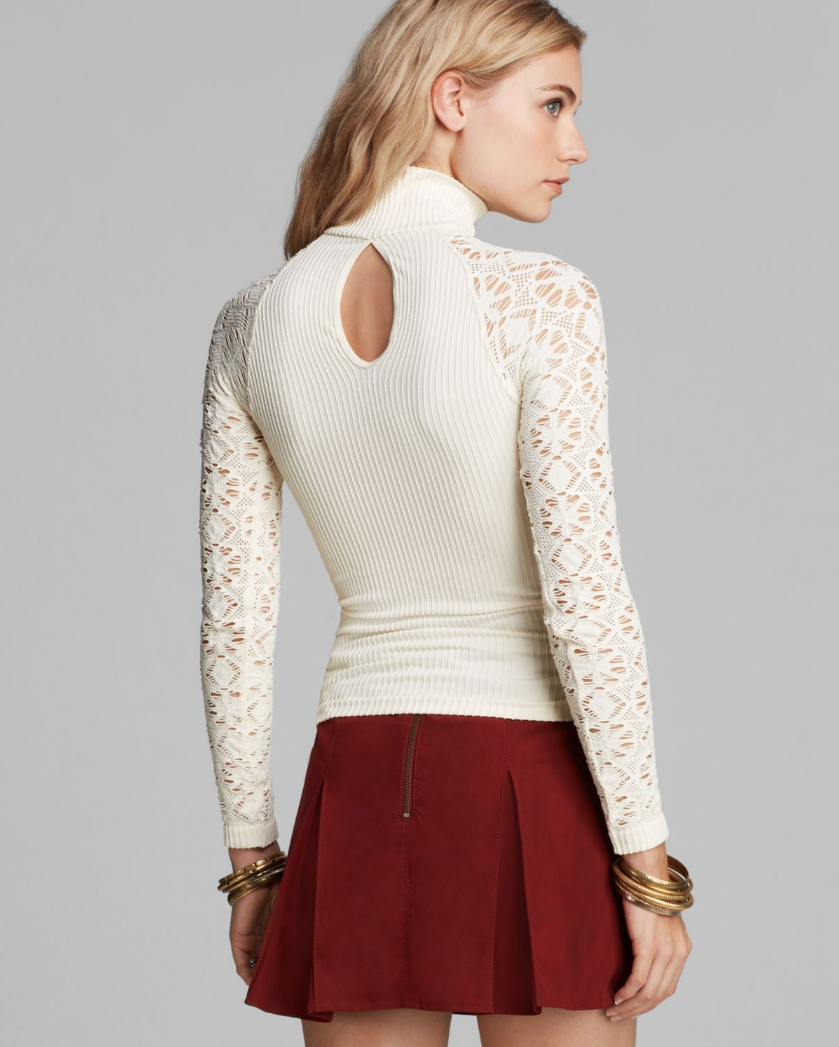 New Free People Intimately Long Sleeve Ribbed Turtleneck Top Womens Xs-L $48
