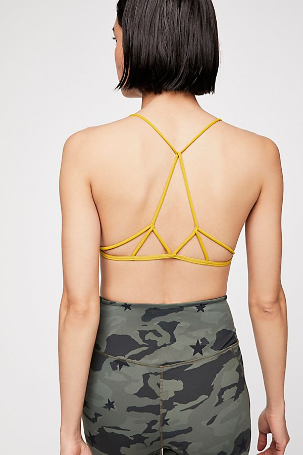 New Free People Womens Seamless Strappy Racerback Prism Strappy Bra Braltte $20